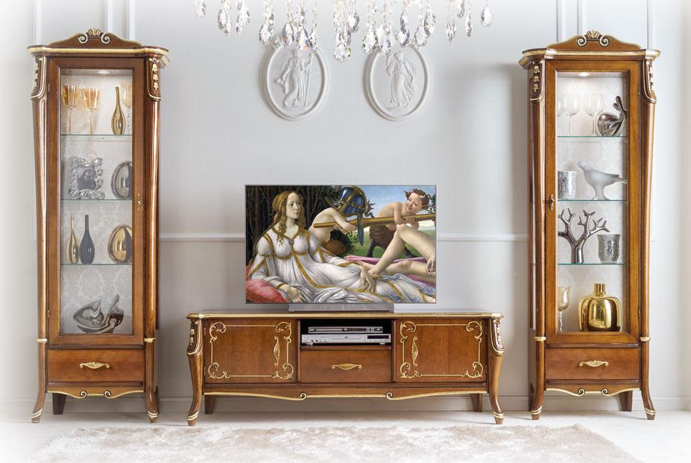 Lowboard TV Blattgold \