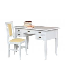 gepolsterter Stuhl und Schreibtisch