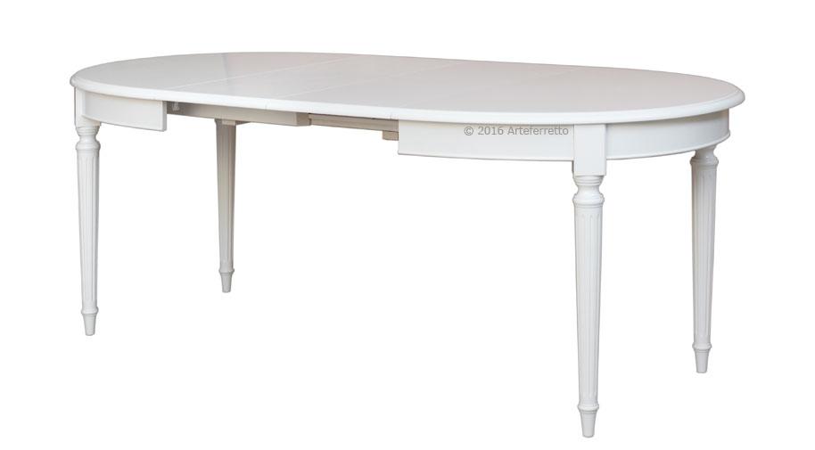 ovaler tisch empire lackiert 130 210 cm frank m bel. Black Bedroom Furniture Sets. Home Design Ideas
