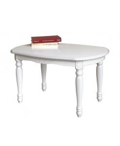 Kleiner ovaler Tisch in Weiß
