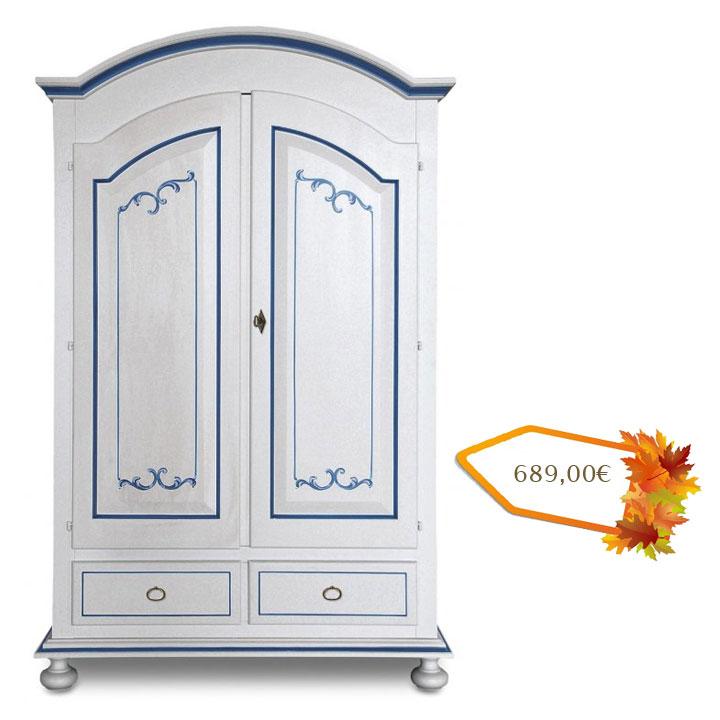 schrank vintage wei und blau frank m bel. Black Bedroom Furniture Sets. Home Design Ideas