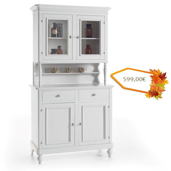 anrichte mit aufsatz wei h 206 cm frank m bel. Black Bedroom Furniture Sets. Home Design Ideas