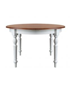 Tisch zweifarbig rund