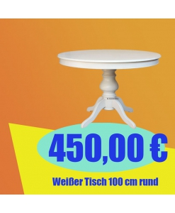 Weißer Tisch 100 cm
