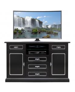 Schwarzes TV-Möbel