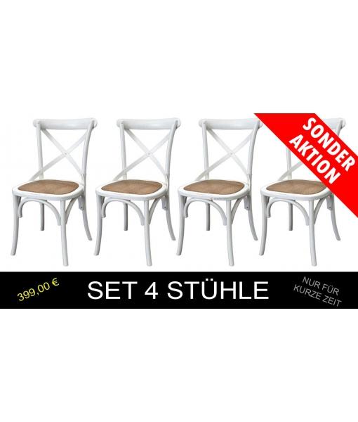 4 Stühle Weiß Master X art. E-6806-B