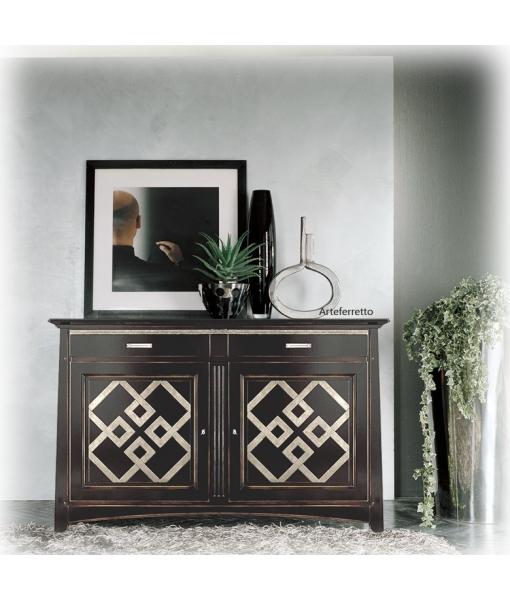 schwarze anrichte mit gold frank m bel. Black Bedroom Furniture Sets. Home Design Ideas