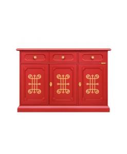 Anrichte Design, Anrichte, Anrichte Rotfarbe