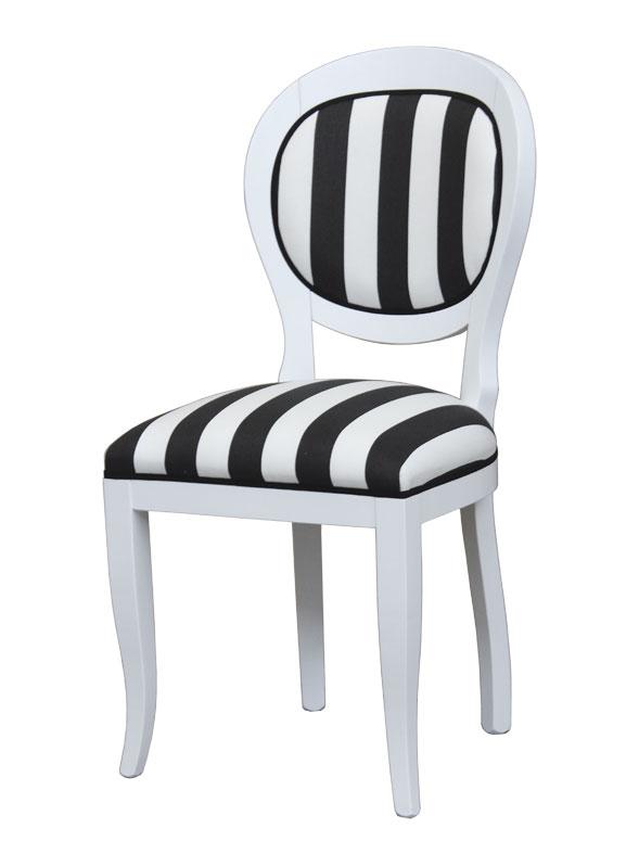 Stuhl Schwarz Weiß style Frank Möbel
