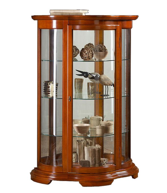 halbrunde vitrine mit glas frank m bel. Black Bedroom Furniture Sets. Home Design Ideas
