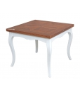 Zweifarbiger Tisch, Tisch, Tisch 100 x 100 cm