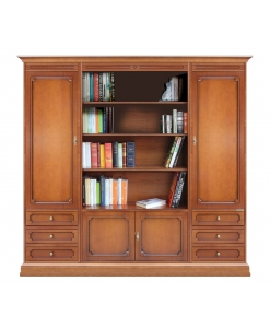 Bücherschrank aus Holz, Bücherschrank