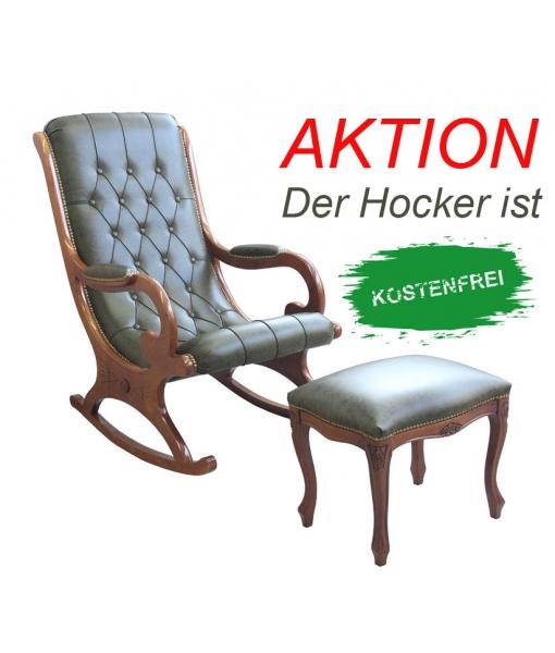 Schaukelstuhl mit Hocker VIS-01-SGA