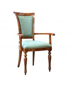 Stuhl mit Armlehne mit golden Details