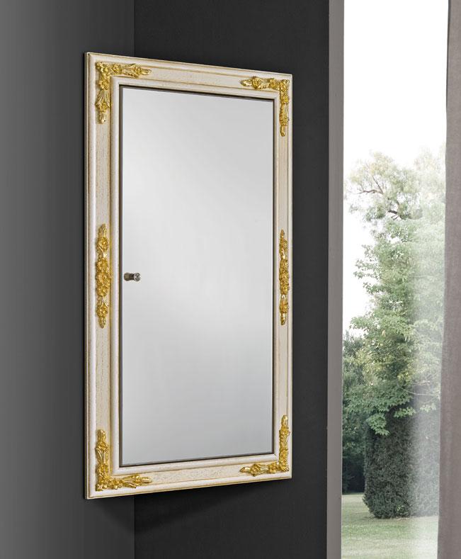 Eck spiegelschrank aus holz frank m bel - Spiegelschrank holz ...