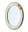 Ovaler Spiegel mit golden Holzrahmen