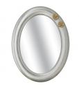 Weißer ovaler Spiegel mit golden Blumen