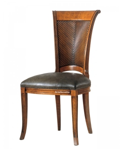 Klassischer Stuhl Rücklehne aus Holz