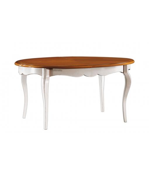 Esstisch ausziehbar oval  Tisch oval ausziehbar zweifarbig - Frank Möbel