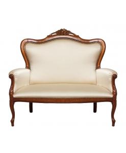 Klassisches Sofa 2 Sitze mit Blumen Schnitzarbeit