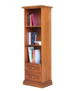 Raumsparendes Buchregal aus Holz