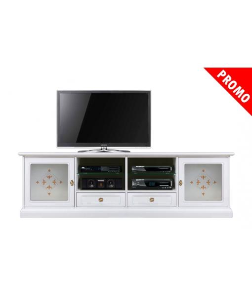 TV-Möbel mit geschmückteren Gläsern, Art.-Nr. 4010-VD-promo