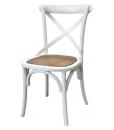 Weißer Stuhl, Stuhl mit Rattan