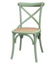 Grüner Stuhl aus Holz