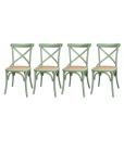 Grüne Stühle, Set 4-teilig Stühle