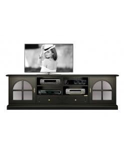 TV-Lowboard in Farbe Schwarz