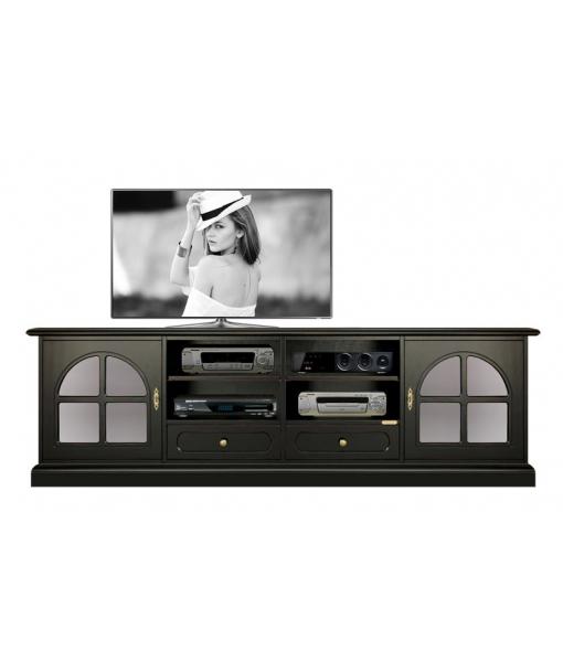 TV-Lowboard in Farbe Schwarz, Art.-Nr. 4010-BW