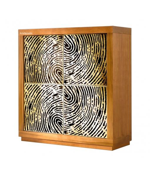 Highboard Holzstruktur art. F-010-TOO