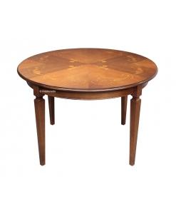 Tisch mit Intarsie, Klassischer Rundtisch