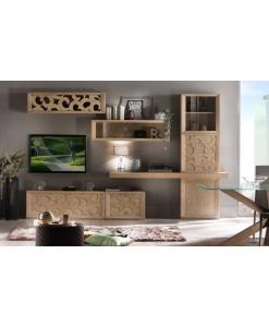 TV-Wohnwand,Wohnwand aus Holz
