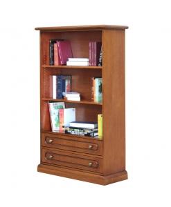 Breites Bücherregal mit 2 Schubladen