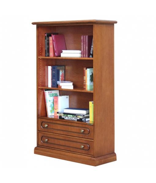 Breites Bücherregal mit 2 Schubladen, Art.-Nr. 325-C
