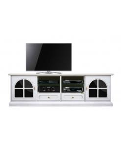 TV-Lowboard Weiß und Schwarz