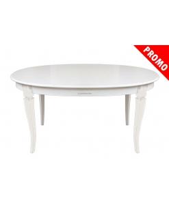 Ovaler weißer Tisch ausziehbar