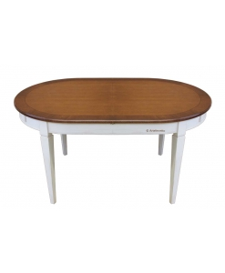 Ovaler zweifarbiger Tisch