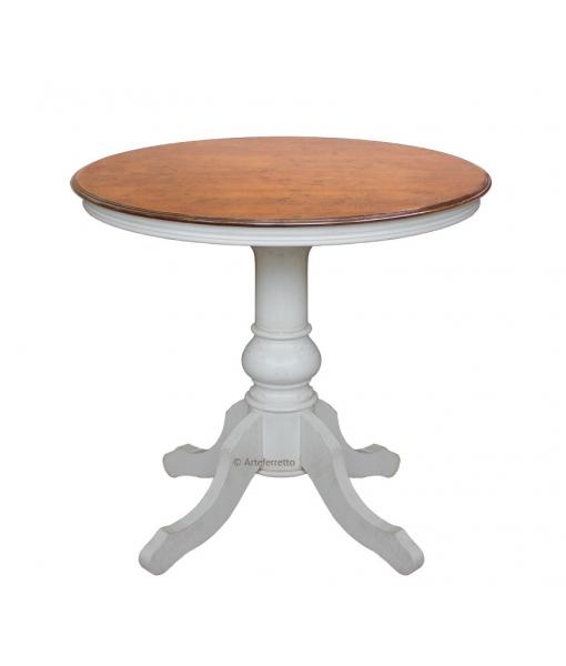 Runder Couchtisch zwei Farbe, Struktur: Weiß, Tischplatte: Bassano