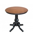 Runder Couchtisch zwei Farbe, Struktur: Schwarz, Tischplatte: Bassano