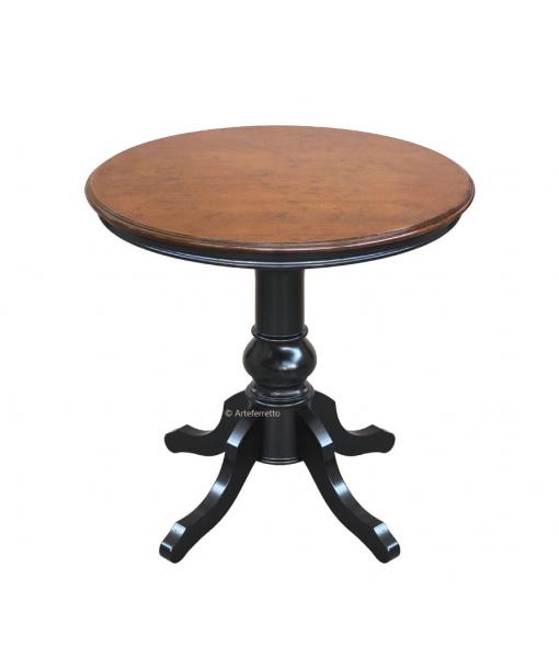 Runder Couchtisch zwei Farbe, Struktur: Schwarz, Tischplatte: Bassano, Art.-Nr. 269-BIC