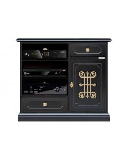 TV-Möbel hoch und schwarz
