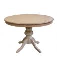 Runder Tisch in Naturfarbe
