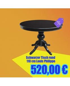 schwarzer Tisch rund