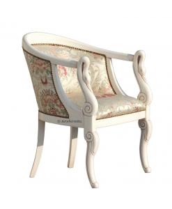 Kleiner Sessel Weiß patiniert