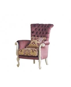 Gepolsterter Sessel im Stil