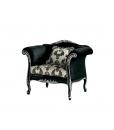 Klassischer schwarzer Sessel