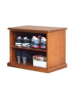 Kleines Schuhregal aus Holz
