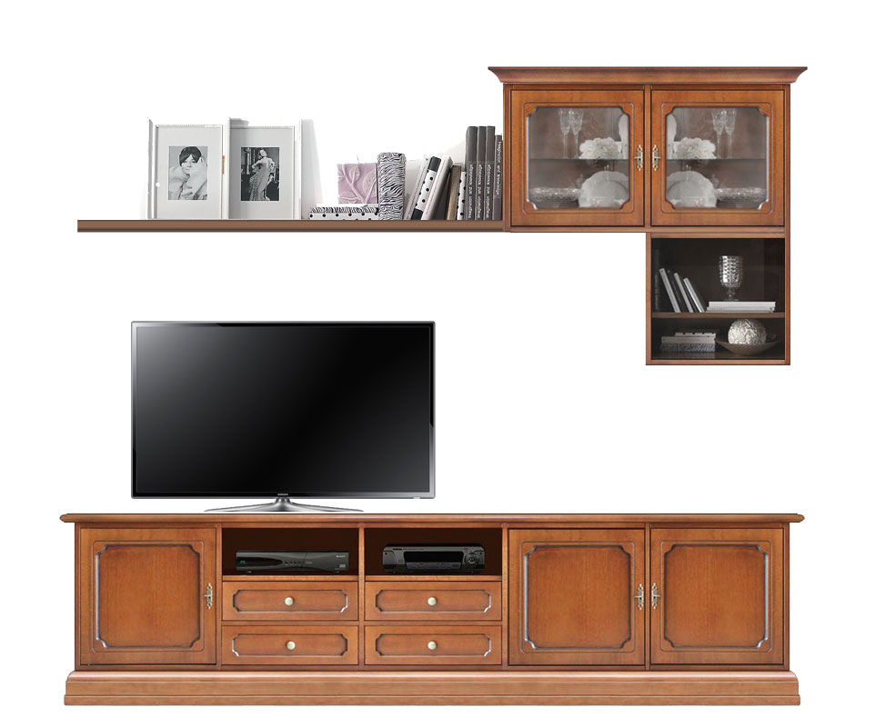 tv wohnwand klassisch aus holz frank m bel. Black Bedroom Furniture Sets. Home Design Ideas